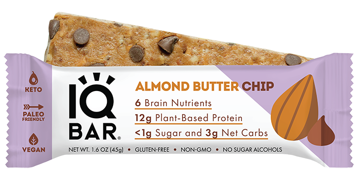 IQ BAR | 12 Almond Butter Chip Bars