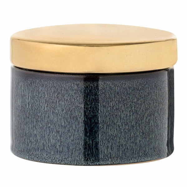 Bloomingville | Jar with Lid Blue & Gold