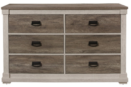 Homelegance Arcadia Dresser in White & Weathered Gray 1677-5 image