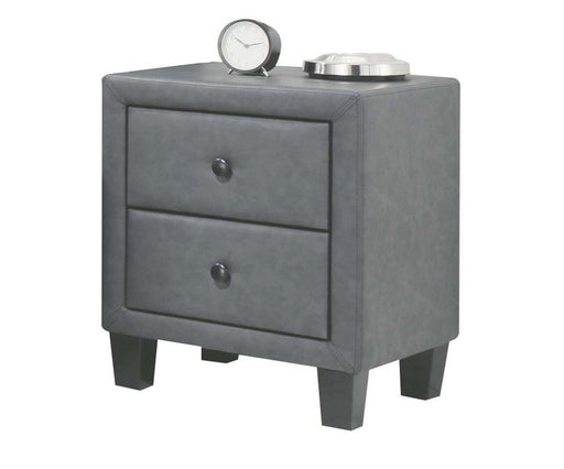 Saveria 2-Tone Gray PU Nightstand image