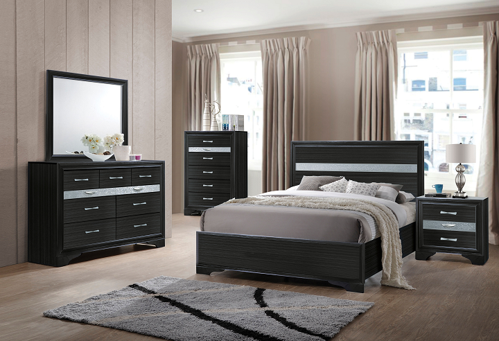 Naima Black Twin Bed image