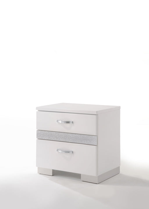 Naima II White High Gloss Nightstand image