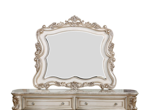 Gorsedd Antique White Mirror image