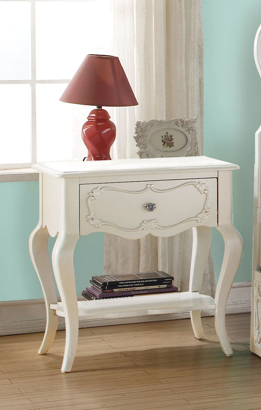 Edalene Pearl White Nightstand image