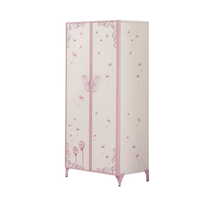 Priya II White & Light Purple Armoire image