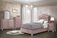 Reggie Pink Fabric Twin Bed image