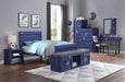 Cargo Blue Twin Bed image