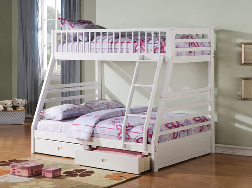 Jason White Bunk Bed (Twin/Full) image