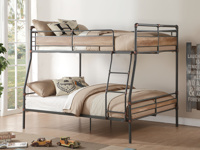 Brantley II Sandy Black & Dark Bronze Hand-Brushed Full XL/Queen Bunk Bed image