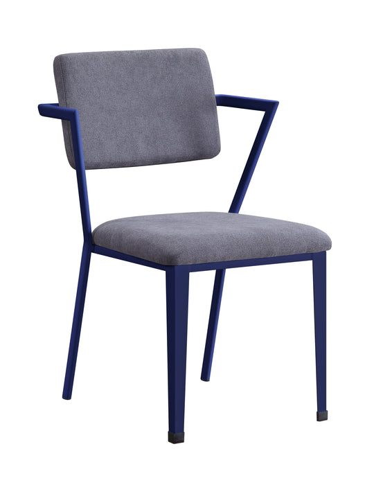Cargo Gray Fabric & Blue Chair image