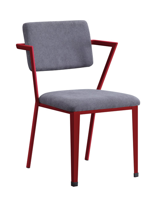 Cargo Gray Fabric & Red Chair image