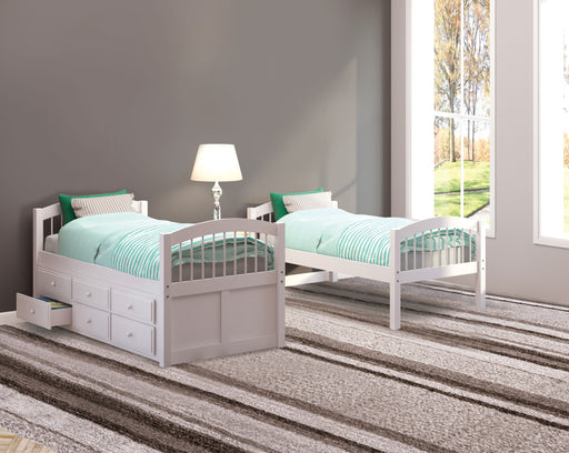 Micah White Bunk Bed & Trundle (Twin/Twin) image