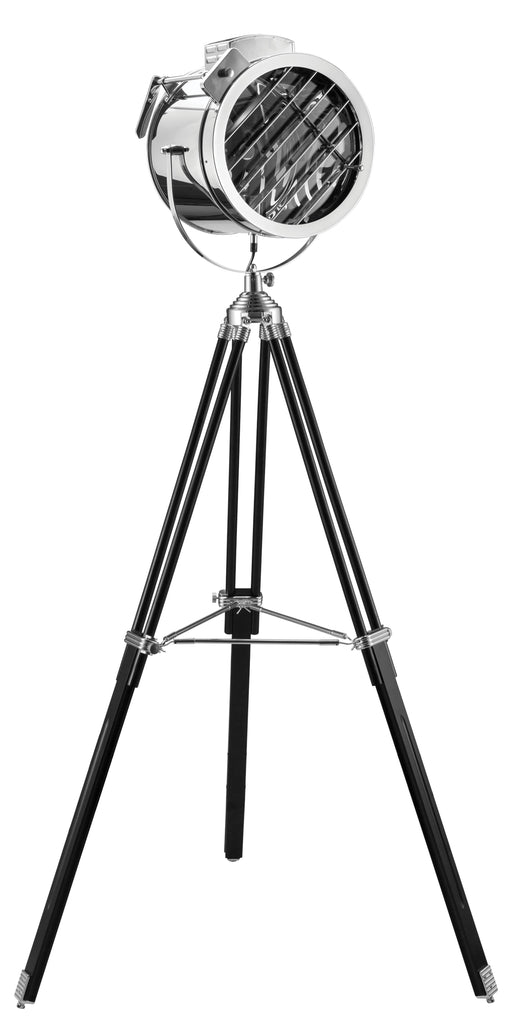 Cinema Black & Chrome Floor Lamp image
