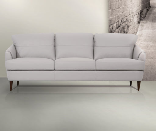 Helena Pearl Gray Leather Sofa image