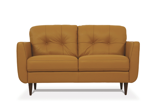 Radwan Camel Leather Loveseat image