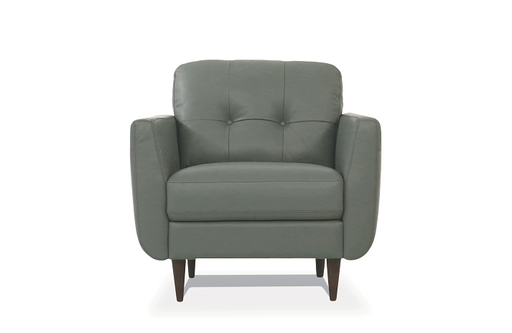 Radwan Pesto Green Leather Chair image
