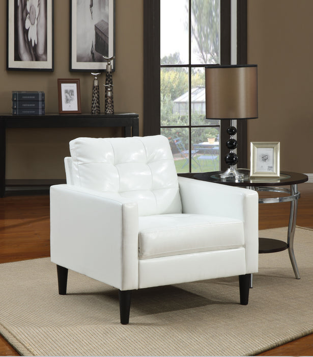 Balin White PU Accent Chair image