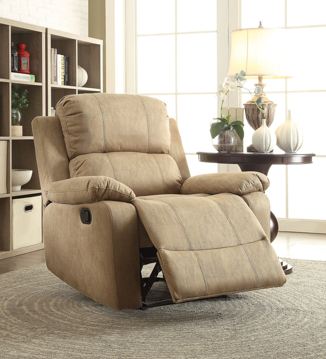 Bina Light Brown Polished Microfiber Recliner (Motion) image