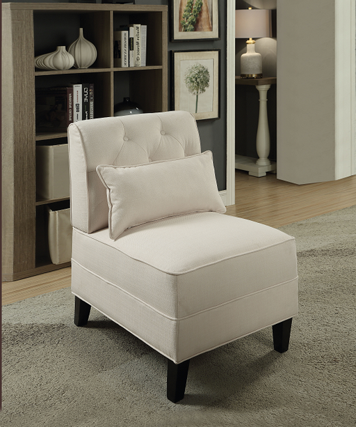 Susanna Cream Linen Accent Chair & Pillow image