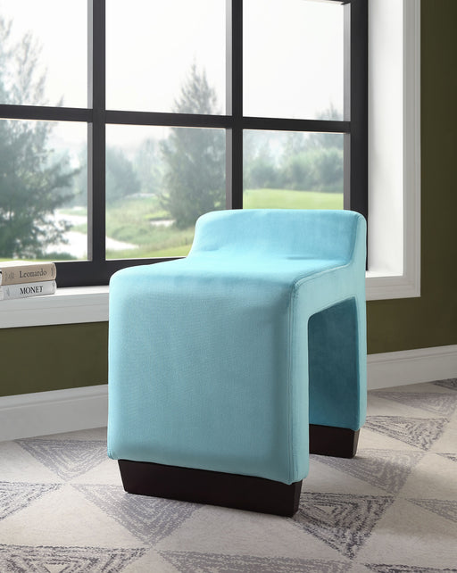 Alford Blue Flannel Ottoman image