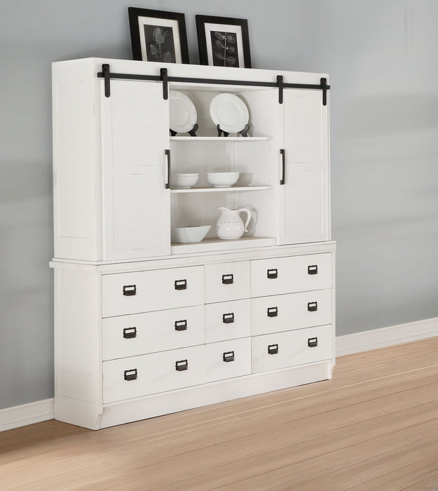 Renske Antique White Hutch & Buffet image