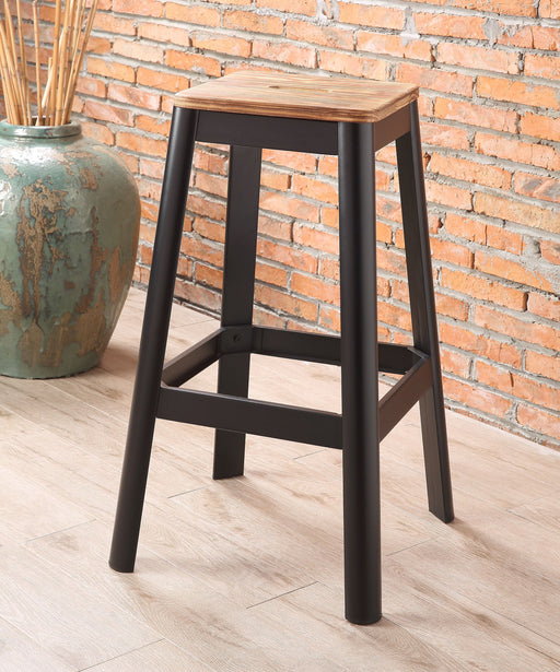 Jacotte Natural & Black Bar Stool (1Pc) image