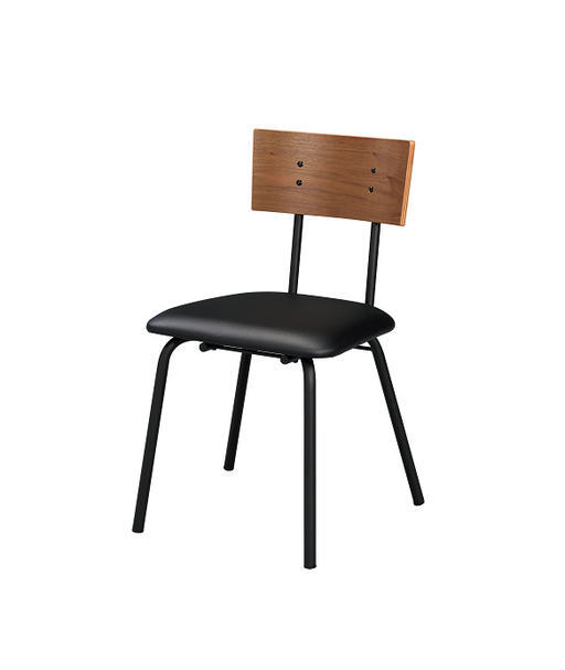 Jurgen PU, Oak & Black Side Chair image