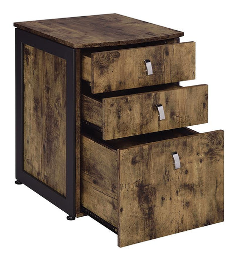 Estrella Industrial Antique Nutmeg File Cabinet image