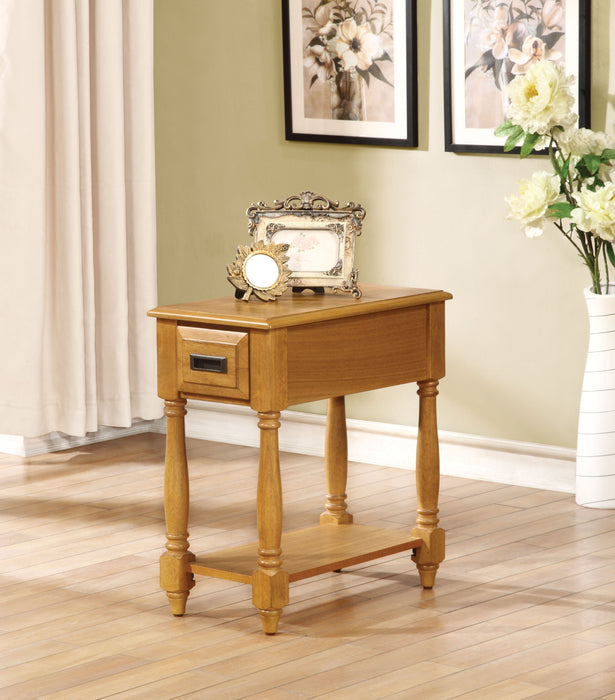 Qrabard Light Oak Side Table image