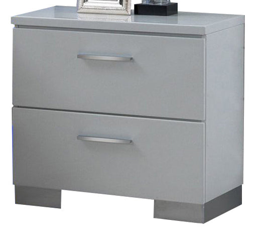 New Classic Sapphire 2 Drawer Nightstand in White B2643-040 image