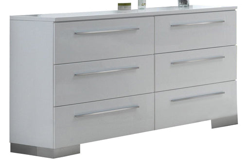 New Classic Sapphire 6 Drawer Dresser in White B2643-050 image