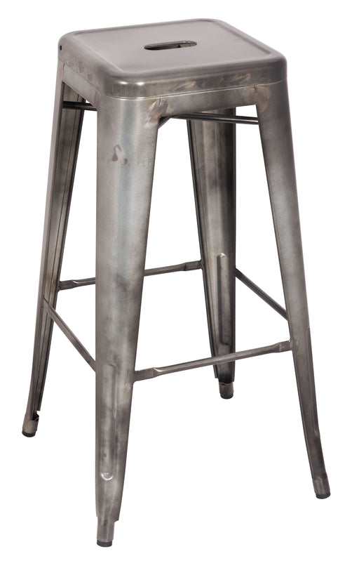 Kiara Antique Silver Bar Stool image