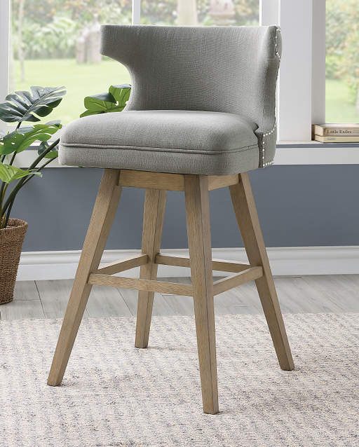 Everett Fabric & Oak Bar Chair image