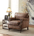 Dundee Retro Brown Top Grain Leather Accent Chair image