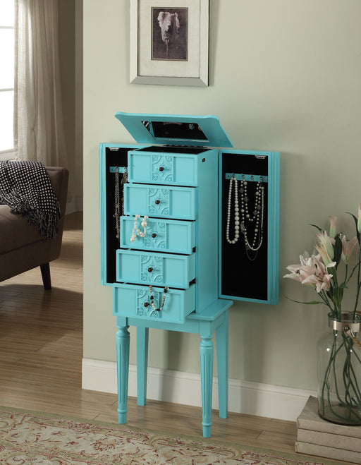 Tammy Light Blue Jewelry Armoire image