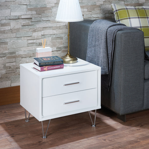 Deoss White Accent Table image