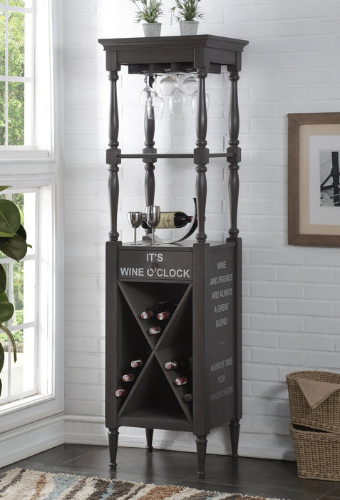 Anthony Antique Gray Wine Cabinet image