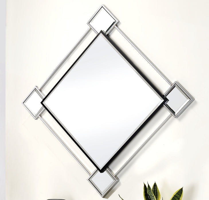 Asbury Mirrored & Chrome Accent Mirror (Wall) image