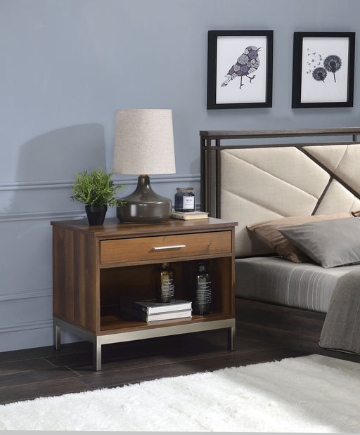 Sterret Walnut & Satin Plated Accent Table image