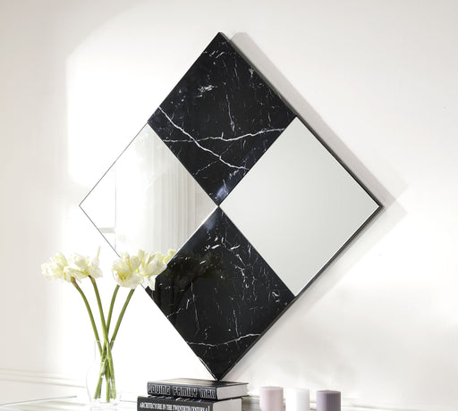 Angwin Mirrored & Faux Marble Accent Mirror (Wall) image