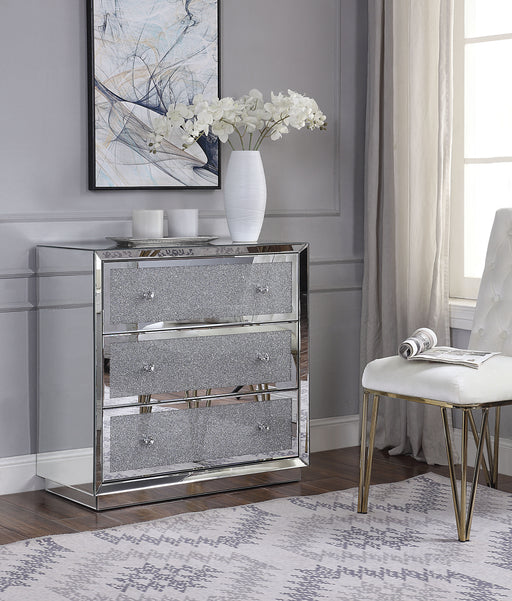Rekha Mirrored & Faux Crystals Console Table image