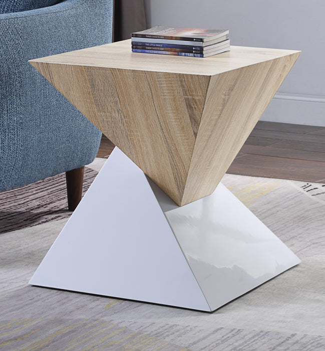 Otith White High Gloss Accent Table image