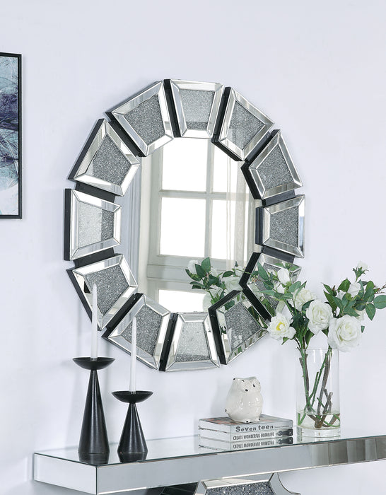 Nowles Mirrored & Faux Stones Wall Decor image