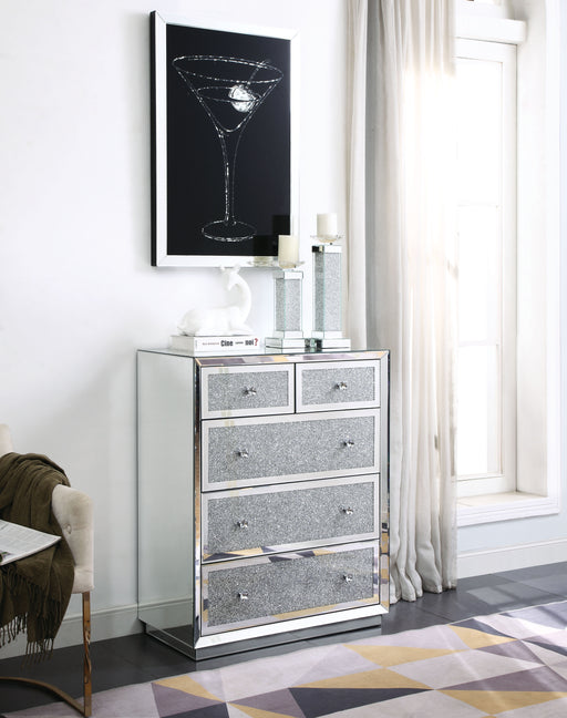 Rekha Mirrored & Faux Crystals Chest image