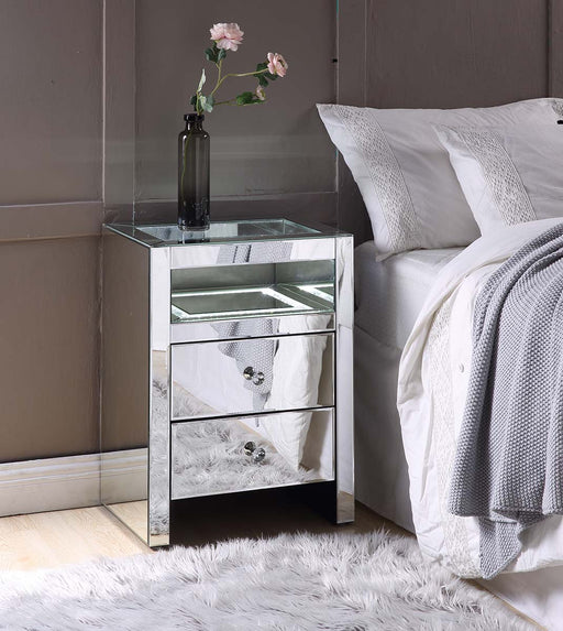 Malish Mirrored Accent Table (LED) image