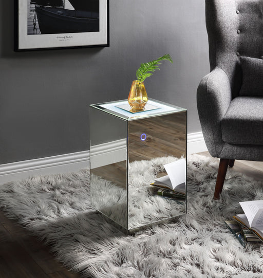 Nyoka Mirrored & Faux Gems Accent Table (LED) image