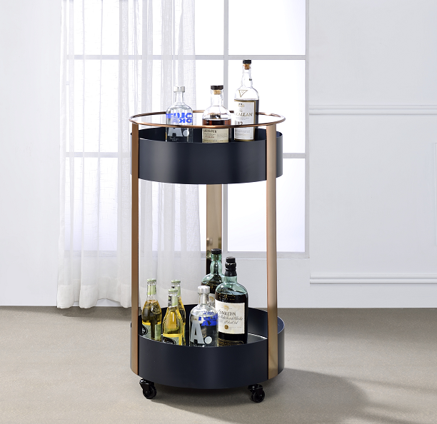 Narrel Onyx & Copper Serving Cart image