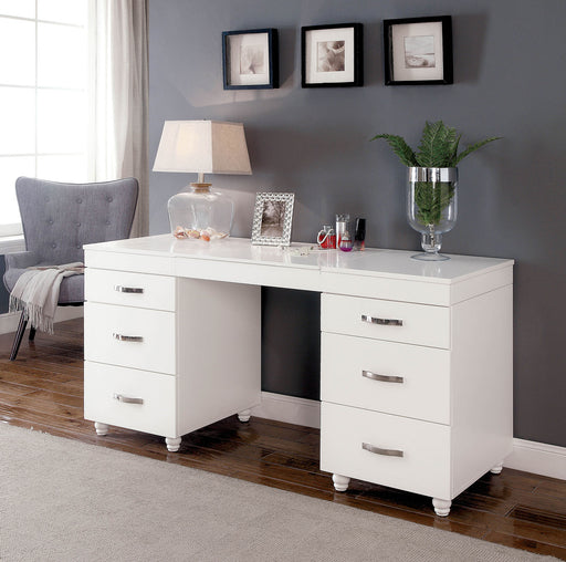 Verviers White Vanity Desk image