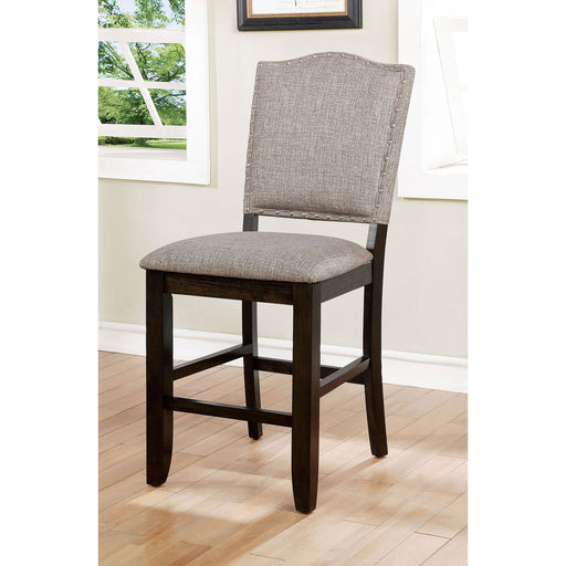 Teagan Dark Walnut/Gray Counter Ht. Chair (2/CTN) image