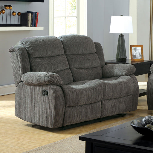 MILLVILLE Gray Love Seat w/ 2 Recliners image